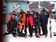 Black Skiers